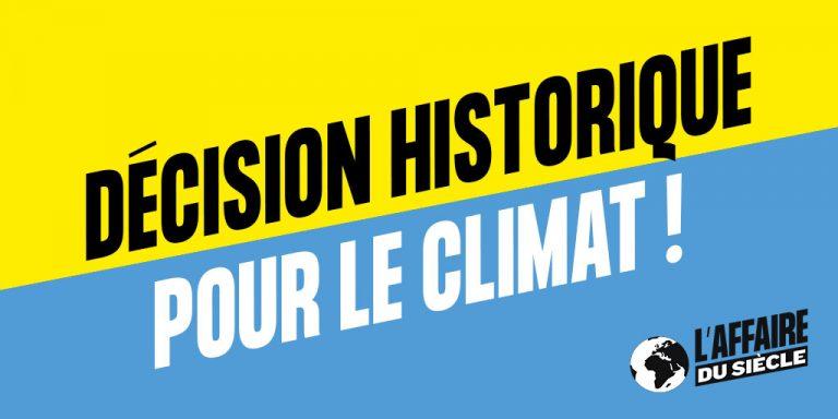 Une avancée historique pour la justice climatique ! affaire du siècle